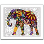 Pintoo-H1479 Plastic Puzzle-The enthusiastic elephant