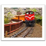 Pintoo-H1482 Plastic Puzzle - Forest Train in Alishan National Park, Taiwan