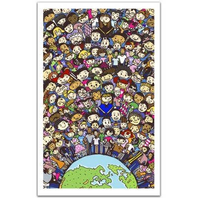 Pintoo-H1487 Plastic Puzzle-One Earth, one family