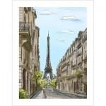 Pintoo-H1524 Plastic Puzzle - Street in Paris, France