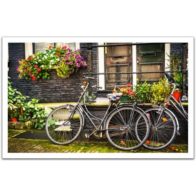 Pintoo-H1572 Plastic Puzzle-Netherlands, Amsterdam Bicycles