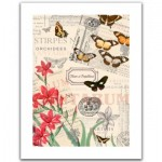 Pintoo-H1585 Plastic Puzzle - Buttlerfly & Flower