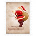 Pintoo-H1608 Plastic Puzzle - Santa Claus Dive in The Fireplace
