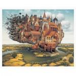 Pintoo-H1637 Plastic Puzzle - Jacek Yerka - City is Landing