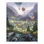 Pintoo-H1644 Plastic Puzzle - Michael Young - Up Up and Away