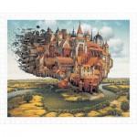 Pintoo-H1645 Plastic Puzzle - Jacek Yerka - City is Landing