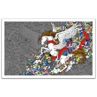 Pintoo-H1673 Plastic Puzzle - Pegasus