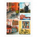 Pintoo-H1688 Plastic Puzzle - Beautiful Collage of Tranquil Streets