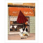 Pintoo-H1708 Plastic Puzzle - Nan Jun - Half - Coffee Shop