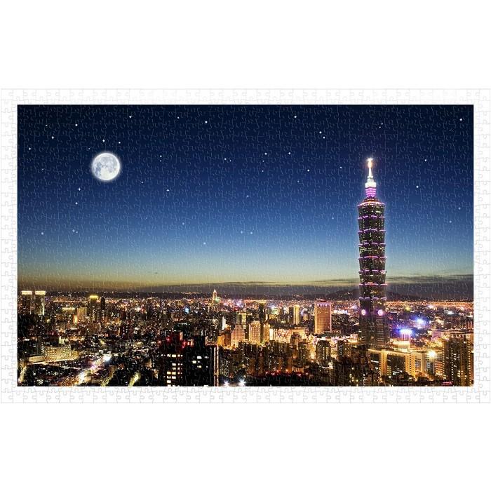 Plastic Puzzle - Taipei Skyline