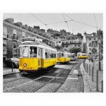 Pintoo-H1768 Plastic Puzzle - Yellow Trams in Lisbon