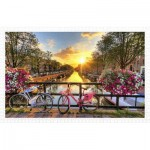 Pintoo-H1770 Plastic Puzzle - Beautiful Sunrise Over Amsterdam