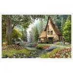 Pintoo-H1790 Plastic Puzzle - Dominic Davison - Toadstool Cottage