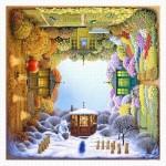 Pintoo-H1918 Plastic Puzzle - Jacek Yerka - Four Seasons