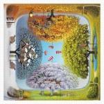 Pintoo-H1925 Plastic Puzzle - Jacek Yerka - Apple Tree