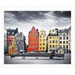 Pintoo-H1937 Plastic Puzzle - The Old Town of Stockholm, Sweden