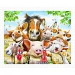 Pintoo-H2038 Plastic Puzzle - Howard Robinson - Farm selfie
