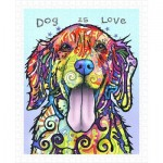 Pintoo-H2039 Plastic Puzzle - Dean Russo - Dog Is Love