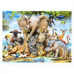 Pintoo-H2043 Plastic Puzzle - Howard Robinson - Africa Smile