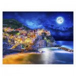 Pintoo-H2056 Plastic Puzzle - Starry Night of Cinque Terre, Italy