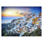 Pintoo-H2073 Plastic Puzzle - Beautiful Sunset of Greece