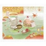 Pintoo-H2074 Plastic Puzzle - Mumu in the Hot Spring