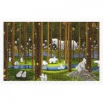 Pintoo-H2075 Plastic Puzzle - SMART - Polar Bears in the Forest