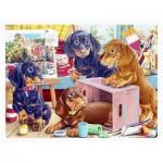 Pintoo-H2087 Plastic Puzzle - Puppies in the Studio