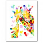 Pintoo-H2092 Plastic Puzzle - Reina Sato - Giraffe Family