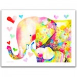 Pintoo-H2106 Plastic Puzzle - Reina Sato - Elephant Family