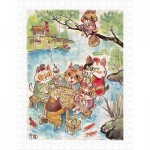 Pintoo-H2112 Plastic Puzzle - Pao Mian - The Leisure Life of the Cats