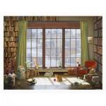 Pintoo-H2134 Plastic Puzzle - David Maclean - Window Cats