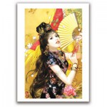 Pintoo-M1085 Plastic Puzzle - Derjen: Woman with fan