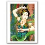 Pintoo-M1087 Plastic Puzzle - Derjen: Woman dancing