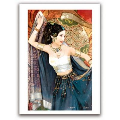 Pintoo-M1089 Plastic Puzzle - Derjen: Woman dancing