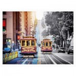 Plastic Puzzle - Cable Cars on California Street, San Francisco