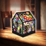 Pintoo-R1007 3D Puzzle - House Lantern - Cheerful Elephants