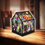Pintoo-R1007 3D Puzzle - House Lantern - Cheerful Elephants