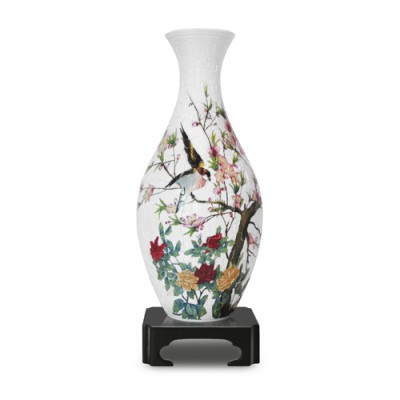 Pintoo-S1001 3D Vase Puzzle : Song of the Birds and Fragrant Flowers