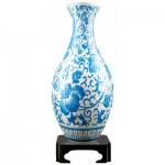 Pintoo-S1012 3D Vase Puzzle - Oriental Floral Ornament