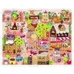 Pintoo-T1013 Plastic Puzzle - Candy Village