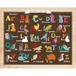 Pintoo-T1022 Plastic Puzzle - Alphabet and Animals