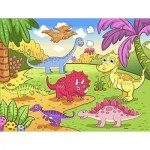 Pintoo-T1024 Plastic Puzzle - Dinosaurs