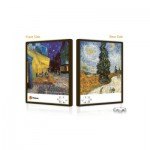 Pintoo-U1001 Double-sided Push Puzzle in plastic - Van Gogh: The cypresses and Cafe Terrace at Night