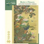 Puzzle  Pomegranate-AA1011 Nagasaki School - Peafowl, ducks, flowers and rocks, 1800–1880