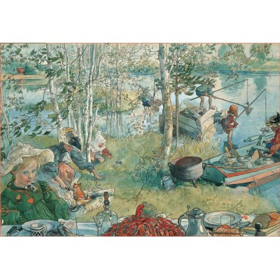 Puzzle Pomegranate-AA409 Carl Larsson: the fishing for crayfishes