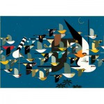 Puzzle  Pomegranate-AA443 Charley Harper : Mystery of the Missing Migrants
