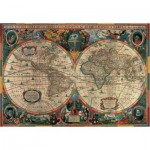 Puzzle  Pomegranate-AA603 Henricus Hondius: ancient map of the world