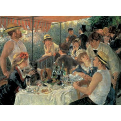 Puzzle Pomegranate-AA623 Auguste Renoir: The Luncheon of the Boating