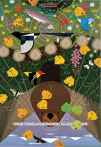 Puzzle Pomegranate-AA638 Charley Harper: The Rocky Mountains